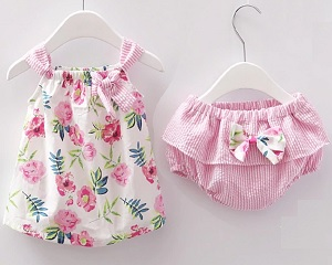 Baby Top With Diaper Cover (Sizes 3M-24M)
