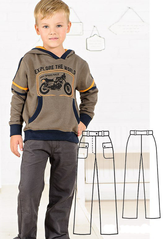 Pants For Boys With Patch Pockets - Free Sewing Pattern (Sizes 2-8 Years)