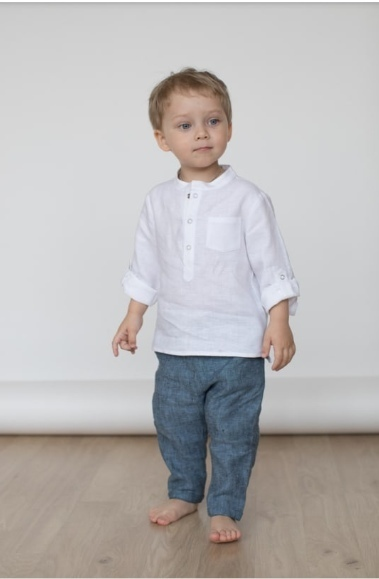 Linen Shirt For Boys - Free Sewing Pattern (Sizes 2-7 Years)