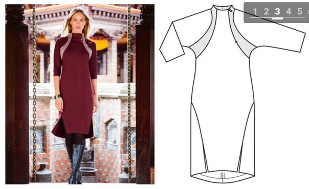 High-neck Knit Dress For Women - Free Sewing Pattern (Sizes 17-21)
