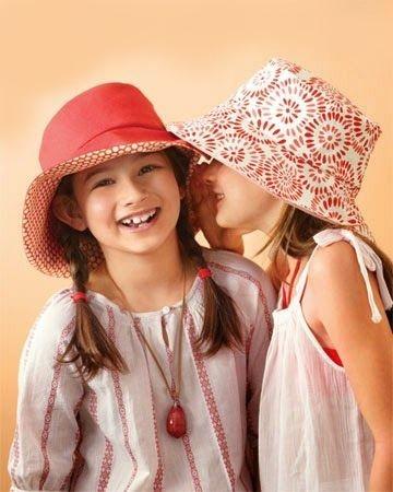 Wide Brim Panama Hat For Girls - Free Sewing Pattern