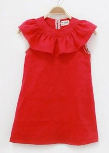 Dress With Flounce - Free Sewing Pattern (Sizes 4-5 Years)