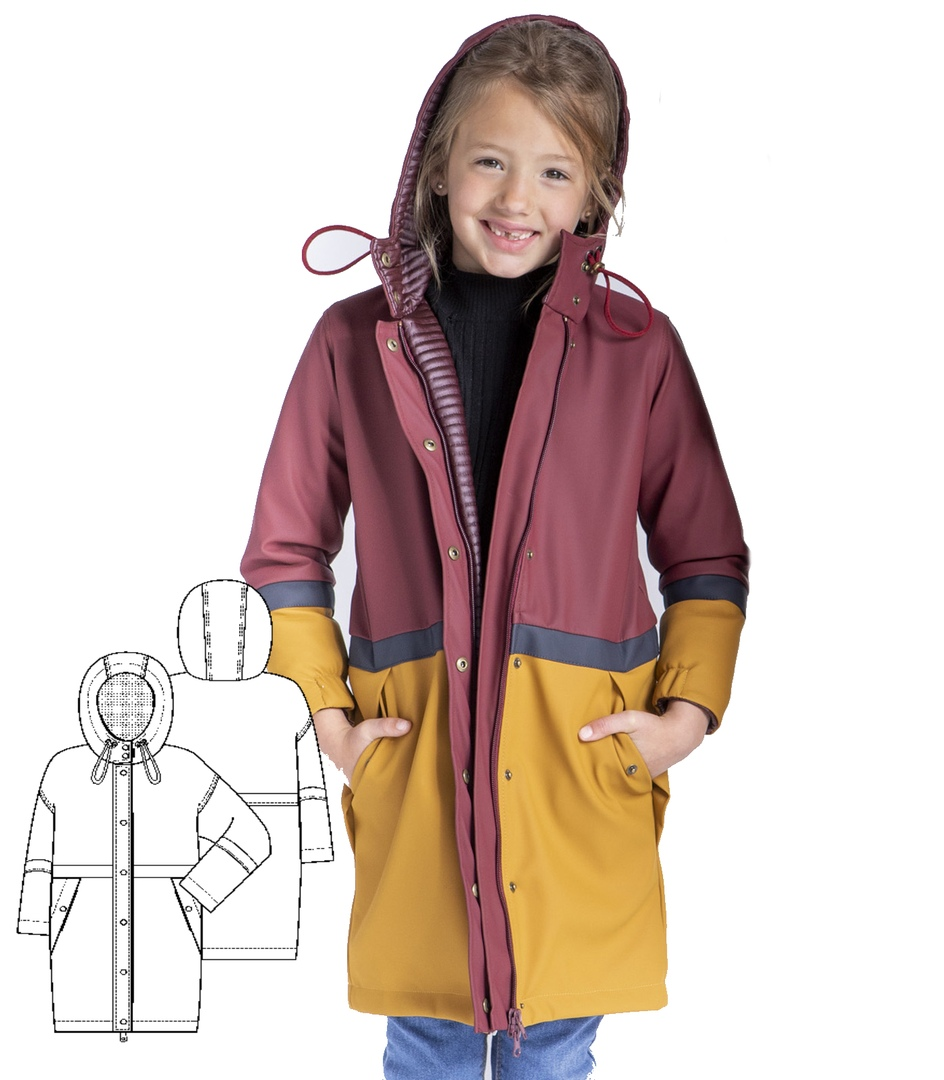 Free Parka Jacket Pattern For Girl (Size 5-9 Years)