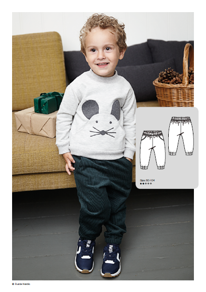 Toddlers Pants - Free Sewing Pattern (Sizes 1-4 Years)