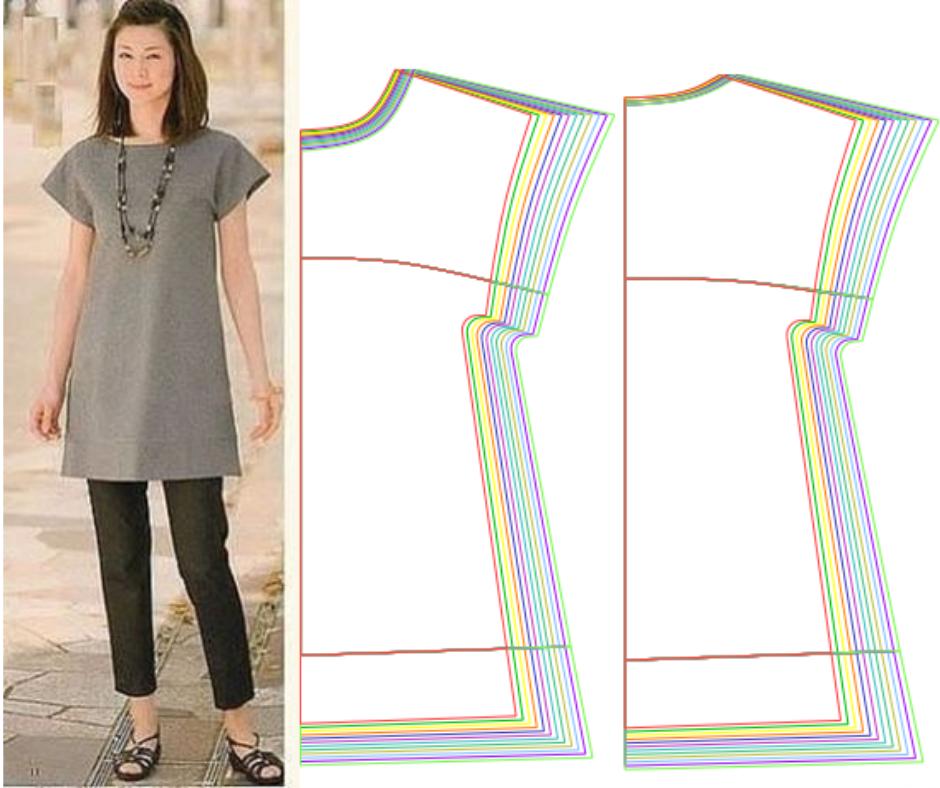 Japanese Dress - Free Sewing Pattern (Sizes 36-58)