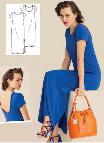 Long Dress With Slits On Sides (Sizes 34-54 Eur)