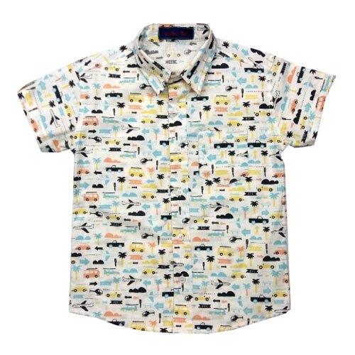 Boys Half Sleeves Shirt - Free Sewing Pattern (Sizes 5-9 Years)