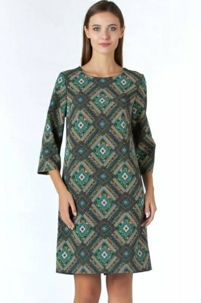 Knitted Trapeze Dress - Free Sewing Pattern (Sizes 44-54 Russian)