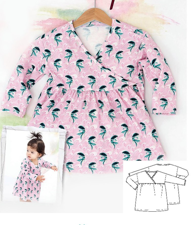 Dress Sewing Pattern For Baby Girls (Sizes 1M-2T)