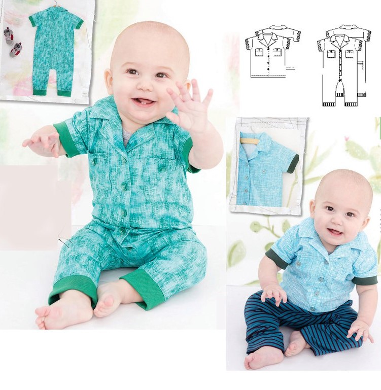 Overalls And Shirt Pattern For Babies (Sizes 1M-2T)