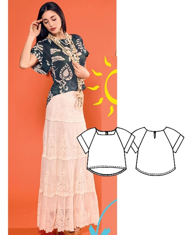 Blouse Sewing Pattern For Women (Sizes 40-46 Eur)