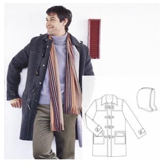 Men Wool Coat Sewing Pattern (Sizes 44-56 Eur)