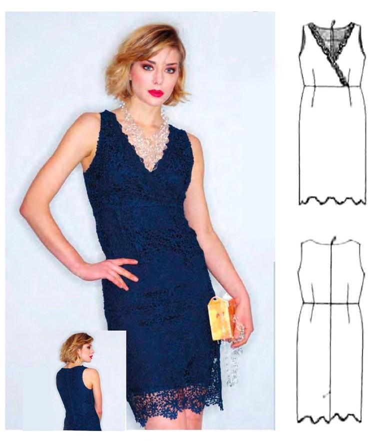Dress Pattern For Women (Size 38-44 Eur)