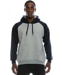 Raglan Sleeve Hoodie Sweatshirts For Men (Sizes 46-56 Eur)