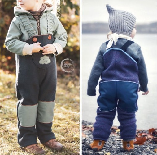 Dungarees Sewing Pattern (12M - 7Years)