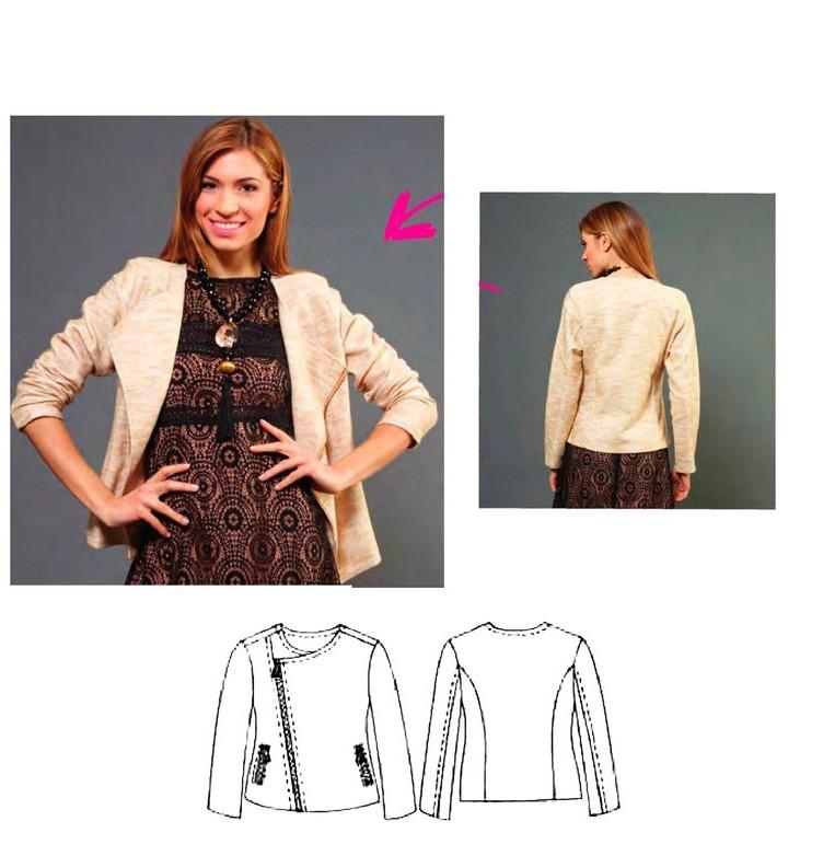 Women's Jacket Sewing Pattern (Sizes 38-44 Eur)