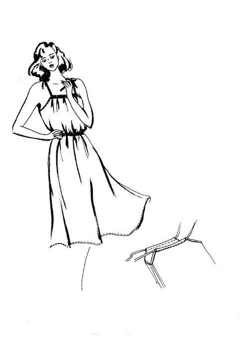 Go Vintage 3093 - Summer Dress Sewing Pattern For Women (Sizes 36-58 Eur)