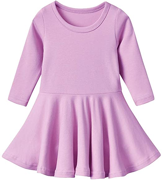 Long Sleeves Girls Dress (Sizes 2-12 Years)