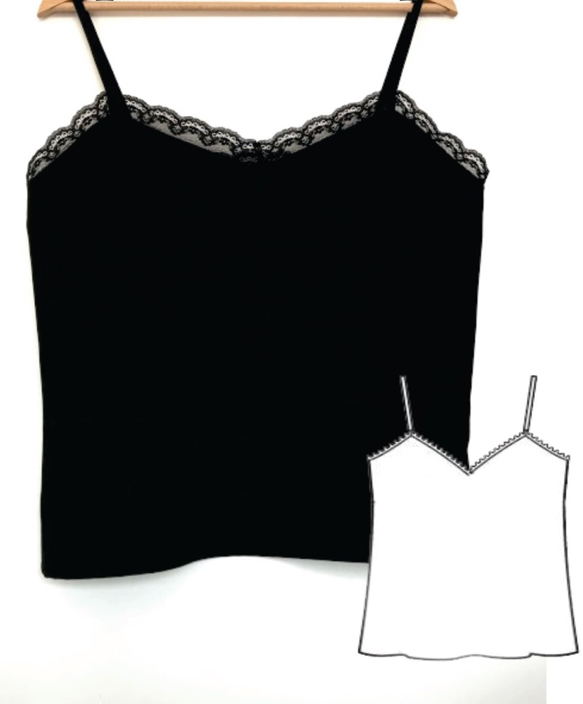 Lace Camisole Sewing Pattern (Sizes S-XL)