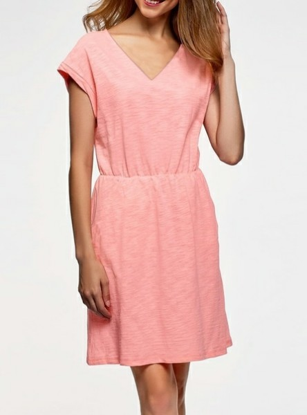 Dress With Side Pockets (40-54 Russian)