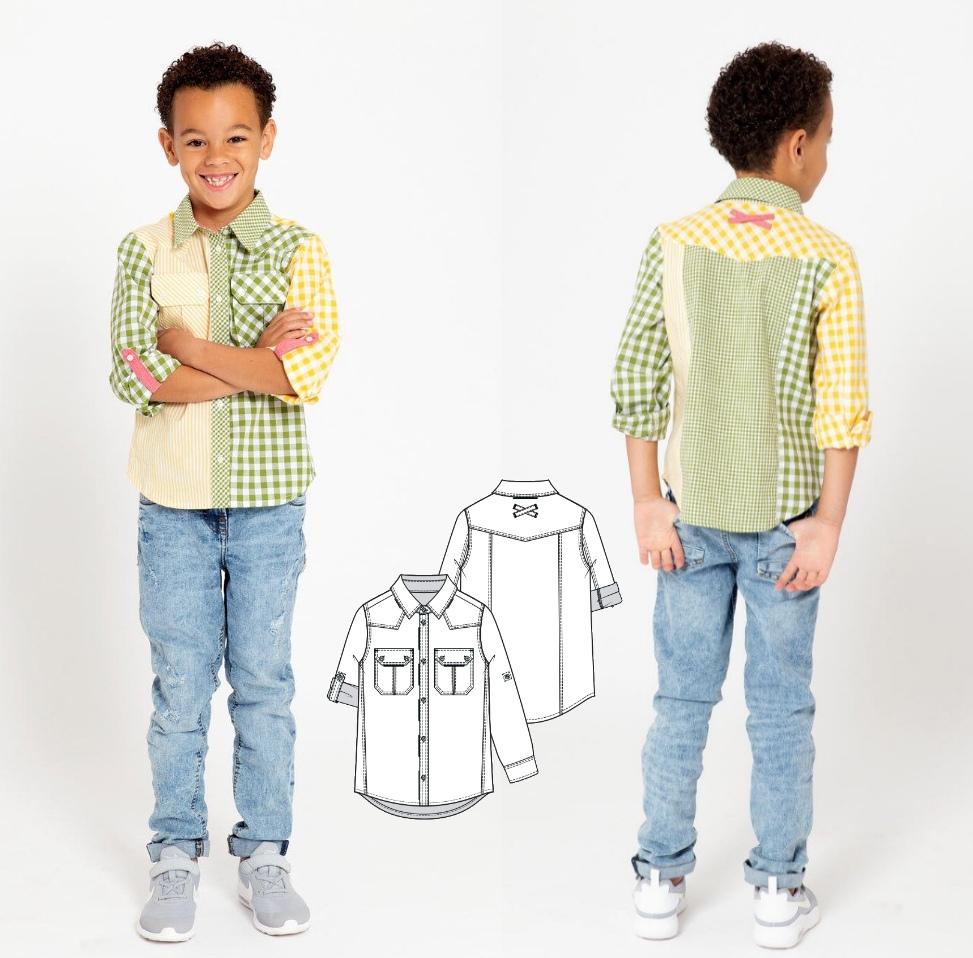 Boy's Shirt Sewing Pattern (Sizes 4-9 Years)