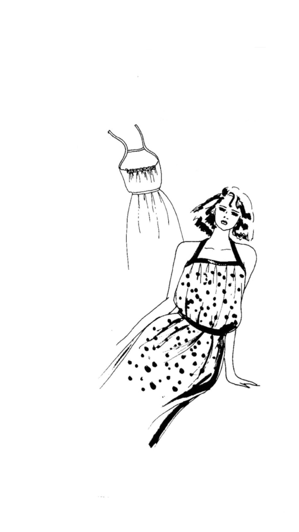 Go Vintage 3094 - Sundress Sewing Pattern (Sizes 36-58 Eur)