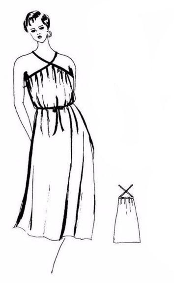 Go Vintage 3097 - Sundress Sewing Pattern For Women (Sizes 36-58 Eur)