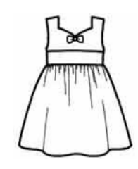 Sleeveless Frock Sewing Pattern For Girls (Sizes 5-8 Years)
