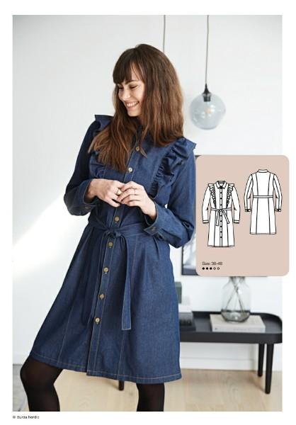 Denim Shirt Dress Sewing Pattern For Women (Sizes 36-46)