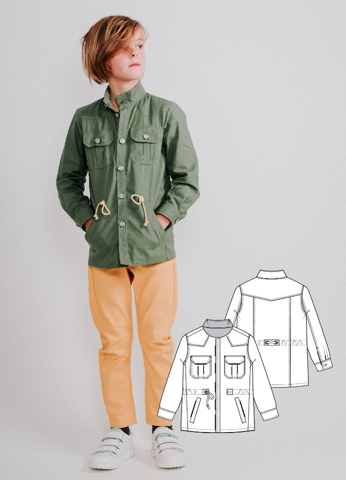 Boy's Jacket Sewing Pattern (Sizes 4-9 Years)
