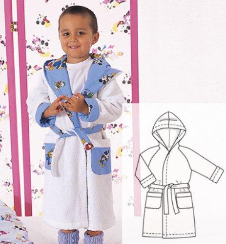 Children's Bathrobe Sewing Pattern (Sizes 12M-6T)