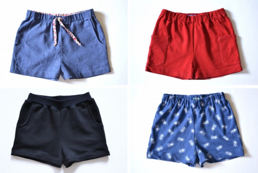 Children's Shorts Sewing Pattern (Sizes 12M-11T)