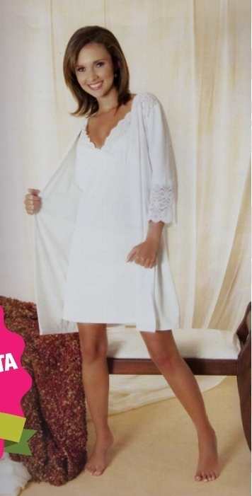 Nightgown And Bathrobe Sewing Pattern (Sizes S-Large)