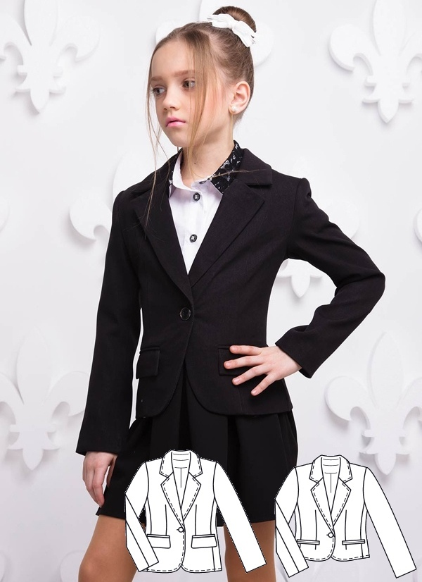 Blazer Sewing Pattern For Girls (Sizes 8-14 Years)