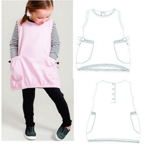 Tunic Sewing Patterns For Girls (Sizes 12M-13 Years)
