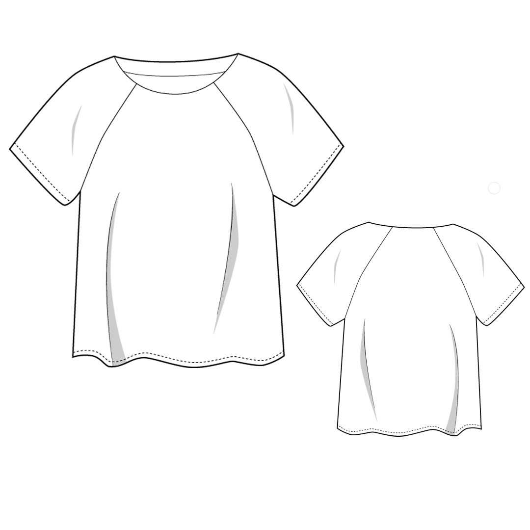 Color Block T-Shirt Sewing Pattern For Women (Sizes 38-62 Eur)