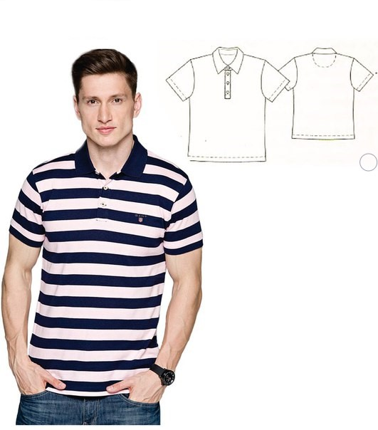 Polo T-shirt Sewing Pattern For Men (Sizes 48-56 Eur)