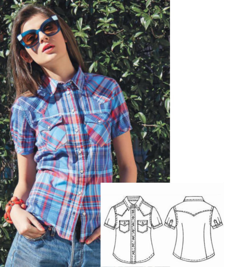 Women's Shirt Sewing Pattern (Sizes 40-46 Eur)