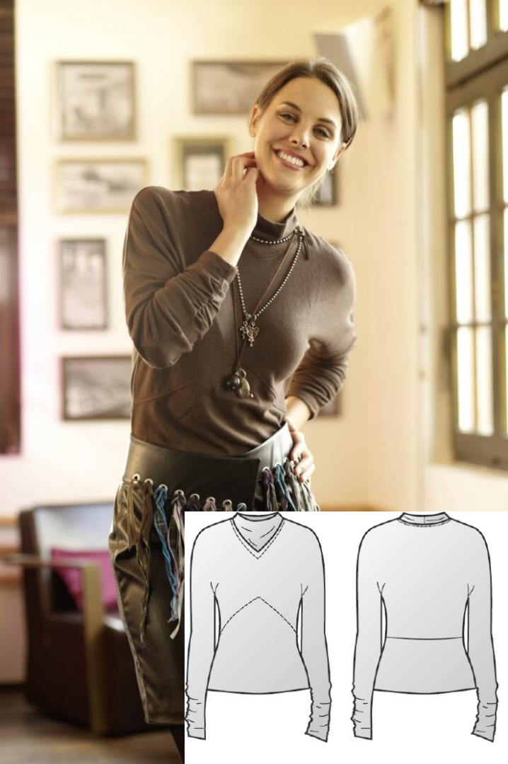 Pullover Sewing Pattern For Women (Sizes 36-44 Eur)
