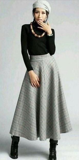 Go Vintage 4091 - Long Maxi Skirt (Sizes P-EGG)