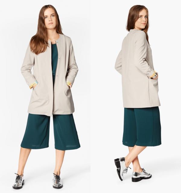 Women's Short Coat Sewing Pattern (Sizes 34-44 Eur)