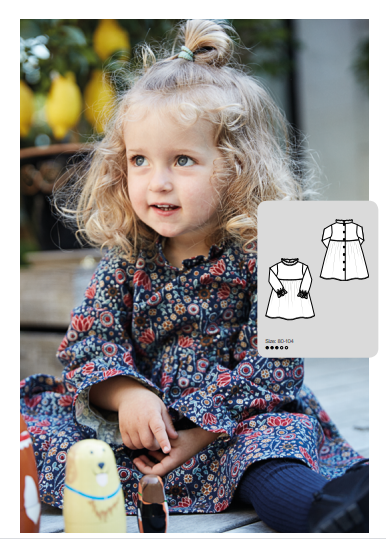 Dress Sewing Pattern For Girls (Sizes 12M-4T)