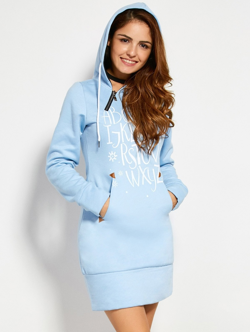 Women's Sweatshirt Dress Sewing Pattern (Sizes 34-54 Eur)