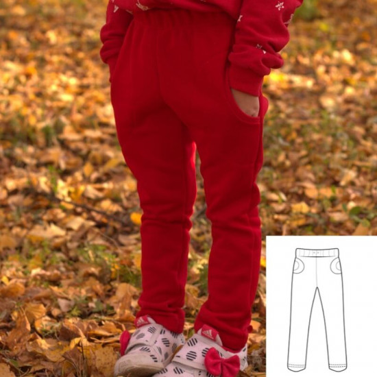 Children's Knit Pant Sewing Pattern (Sizes 2-8T)