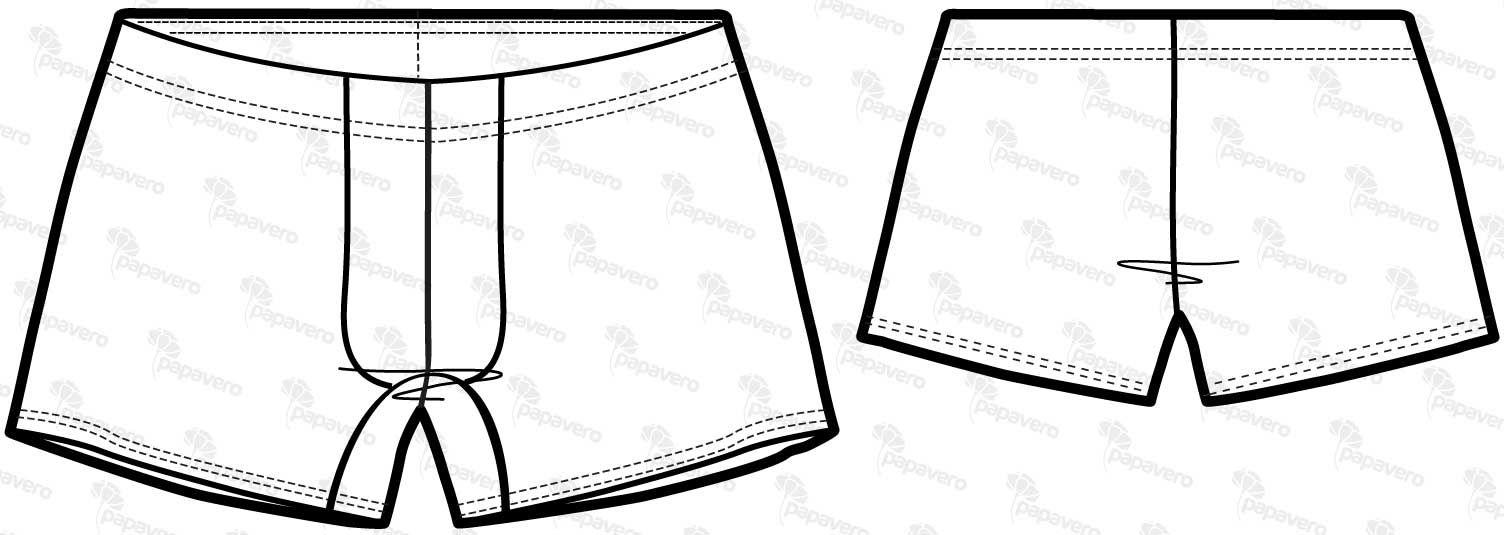 Sewing Pattern For Men's Boxer Shorts (Sizes XS-XXXL)