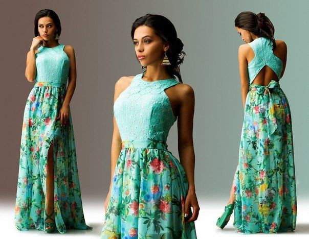 Halter Neck Maxi Dress Sewing Pattern (Sizes 42-54 Russian)