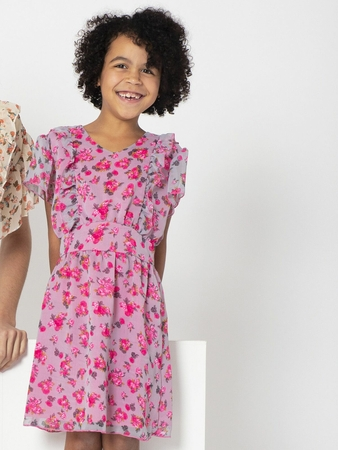 Dress Sewing Pattern With Wing Sleeves For Girls (Sizes 104-134 Eur)