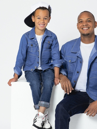 Denim Jacket Sewing Pattern For Boys (Sizes 104-134 Eur)