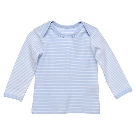 Long Sleeve Lap Shoulder T-shirt For Babies (Sizes 1M-6M)