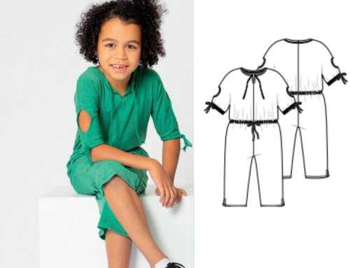 Children's Knitted Jumpsuit Sewing Pattern (Sizes 104-134 Eur)